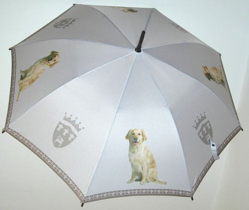 Stockschirm mit  Motiv Golden Retriever